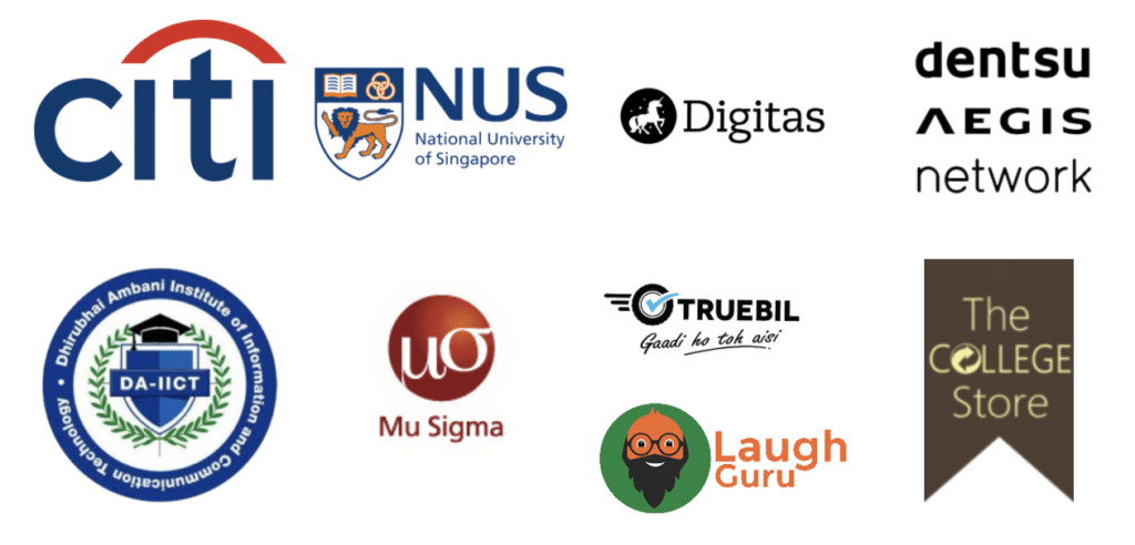 Brands where Shubhanshu Gupta has studied and worked.